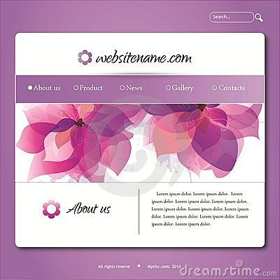 Free Vector Violet Web Site Design Template Royalty Free Stock Photography - 16747507