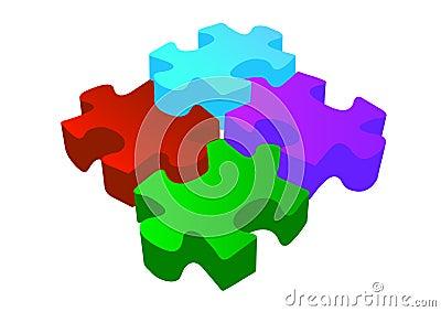 Vector volume 3d puzzle