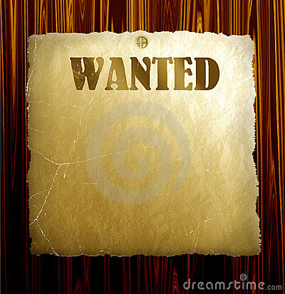 Vector Wanted Poster