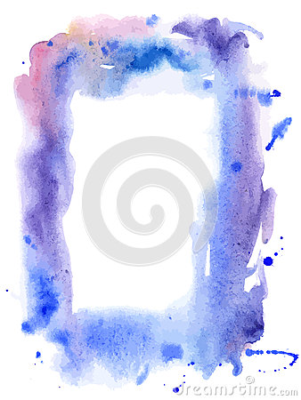 Vector water color frame