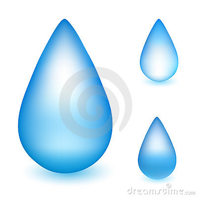 Vector water drop illustrations