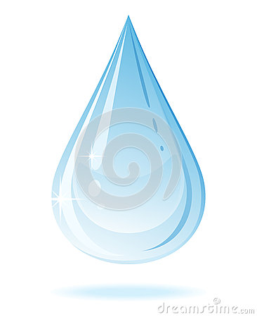 Vector water drop.