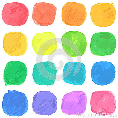 Free Vector Watercolor Blobs Pattern Royalty Free Stock Image - 76072316