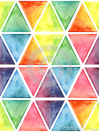Free Vector Watercolor Geometric Seamless Pattern With Hexagons Stock Photos - 53266973