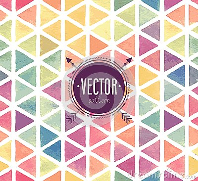 Free Vector Watercolor Seamless Pattern. Royalty Free Stock Images - 44396039