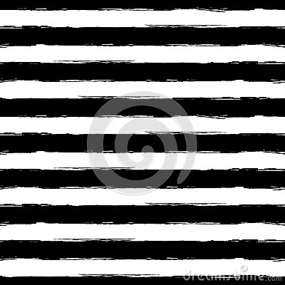 Vector watercolor stripe grunge seamless pattern. Abstract black Vector Illustration