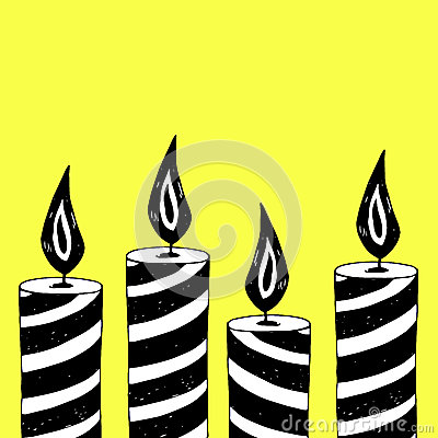 Vector wax illustration fire candle flame candlelight christmas Vector Illustration