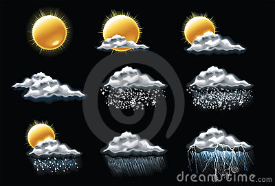 Vector weather forecast icons. Part 1