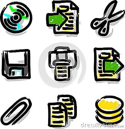 Vector web icons marker colour contour files