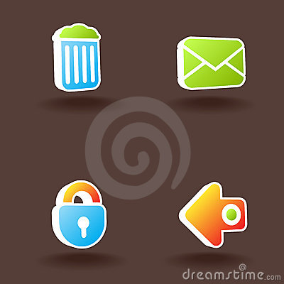 Vector web icons. Set 6.