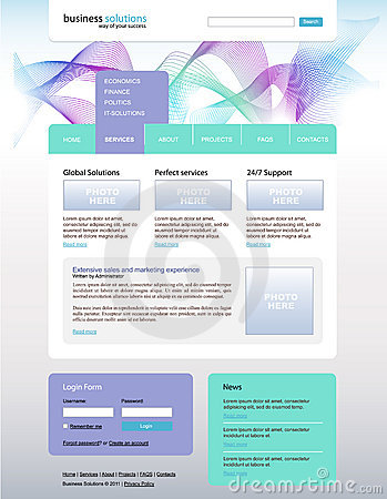 Vector website desing for business solution