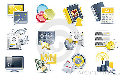 Vector website development icon set