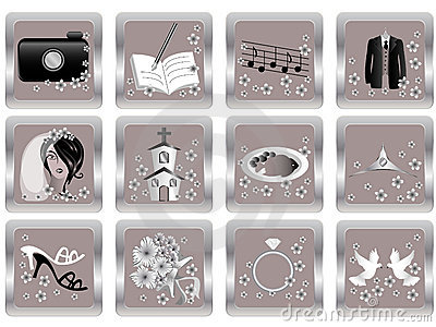 Vector wedding icons 2