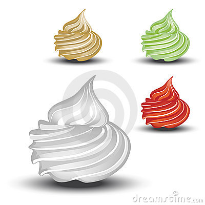 Vector whipped cream