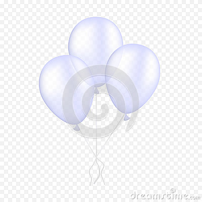 Free Vector White Balloon On A Transparent Background. 3d Realistic Happy Holidays Flying Air Helium Balloon. Stock Photography - 92608112