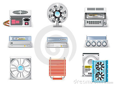 Vector white computer icon set. Part 5