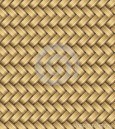 Free Vector Wicker Placemat Seamless Stock Image - 39700761