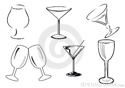 Vector wine glasses
