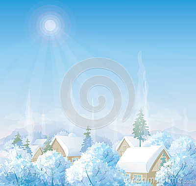 Wintery landscape adobe illustrator pictures to pin on pinterest pinsdaddy