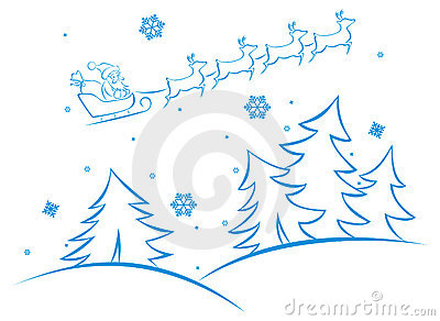Vector winter scene