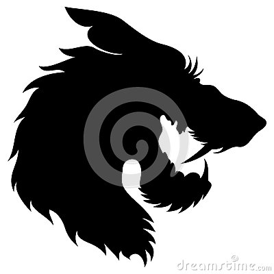 Free Vector. Wolf Head Silhouette. Royalty Free Stock Photography - 35005727