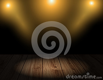 Vector wood background with lighting effects