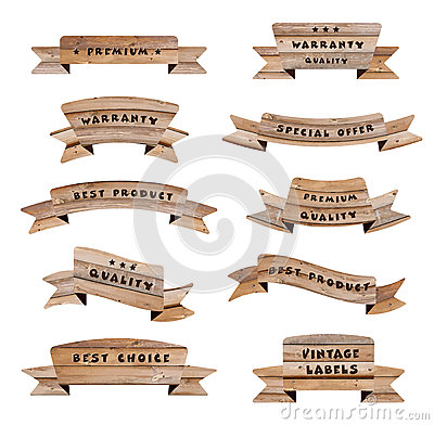 Vector wood signs Vector Illustration