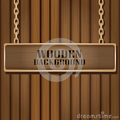 Free Vector Wooden Background For Design. Stock Photography - 35446022