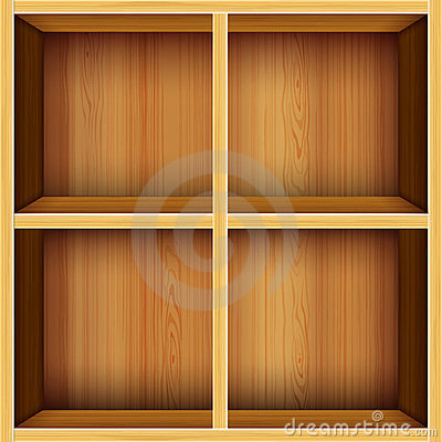Free Vector Wooden Shelves Background Stock Photo - 23930000