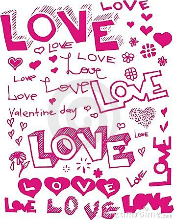Vector words love