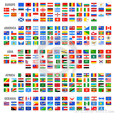 Free Vector World Country Flags Set Royalty Free Stock Photos - 44190748