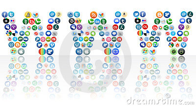 Vector World wide web of social networking Editorial Stock Photo