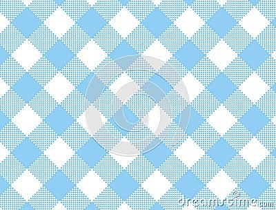Vector Woven Blue Gingham