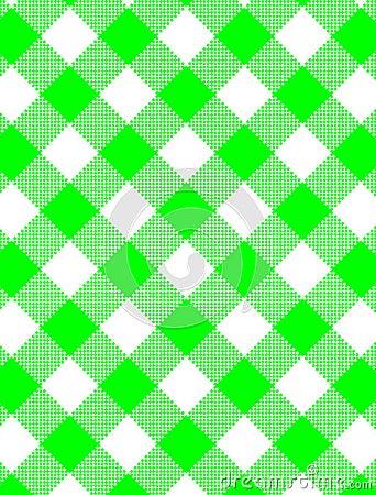 Vector Woven Green Gingham