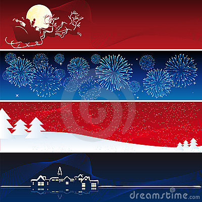 Free Vector Xmas Banners Stock Photo - 6820230