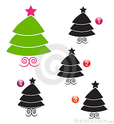 Vector ~ Xmas shape game: tree