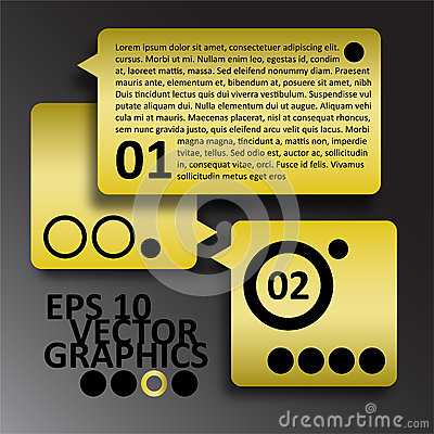 Vector Yellow and Black Infographics Background Co