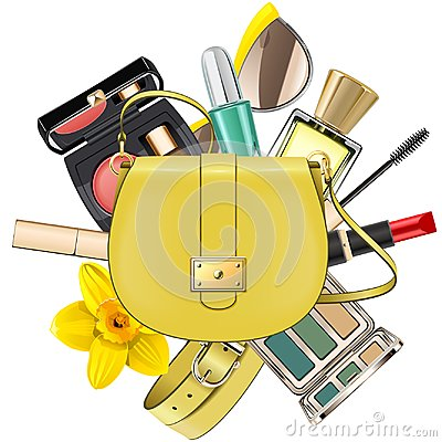 Free Vector Yellow Fashion Accessories Concept Stock Images - 125092384