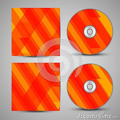 VectordieCD-dekking voor uw ontwerp wordt geplaatst