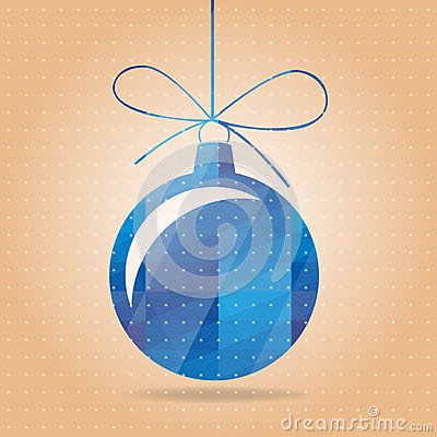 Vectorial blue New Years toy
