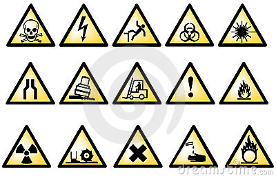 Vectorial danger symbols
