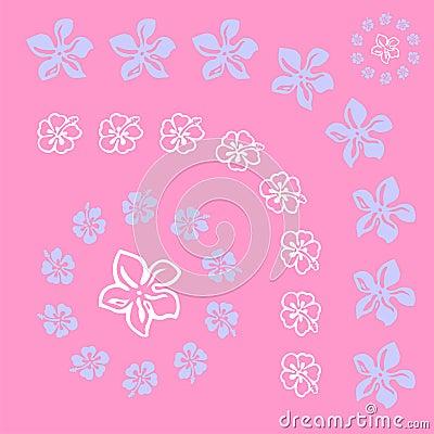 Vectorial flower pattern