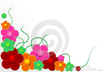 Vectorial flower pattern