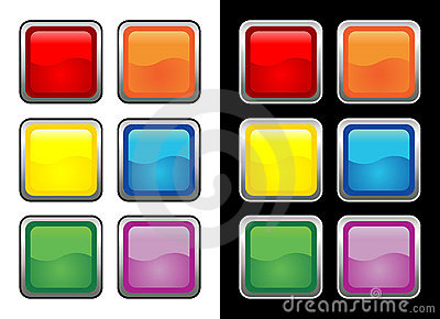 Vectorial glass buttons