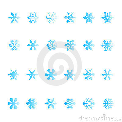Vectorial snowflake set