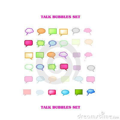 Vectorial Talk Bubbles Set
