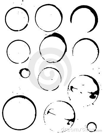 Free Vectorized Coffee Stains Royalty Free Stock Photography - 1669107