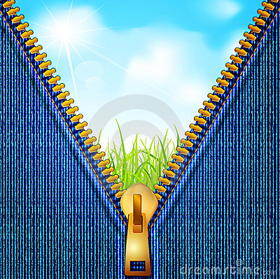 Vectors jeans background with a zipper