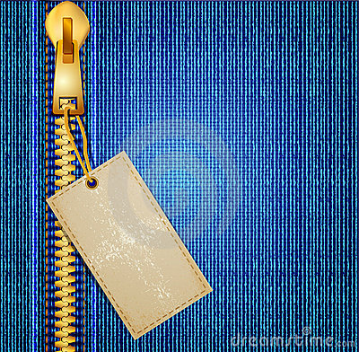 Vectors jeans background with a zipper and label
