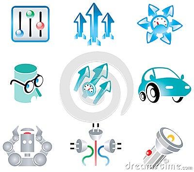 Vectors kit for logo development